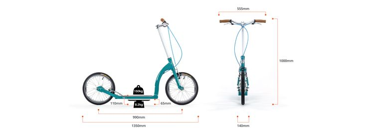 The perfect adult kick scooter for fitness and long distance endurance, SwiftyZERO's beauty is in its simplicity. Its also equally the perfect scooter for crusing around, nipping to the shops or joining the kids on a school run.  • Lightweight 8.2kg | Max Load 150kg (330lb) • 16 inch (305mm) polished wheels with CNC rims • Front and rear Tektro V-brakes • High-pressure Kenda KWest road tyres, street tread, max 100 PSI with reflective strip • Heat treated T6 Aluminium 6061 frame  NOTICE Self…