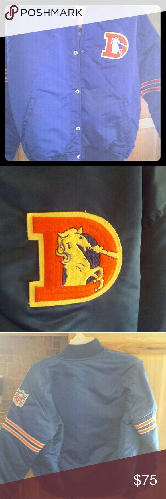 Denver Broncos coat...size large Nwot...never worn! Wasn't right size..old school emblem..size large unisex. STARTER Jackets & Coats Puffers