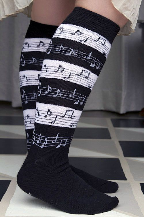 Socks by Sock Dreams » Music Stripes Knee High