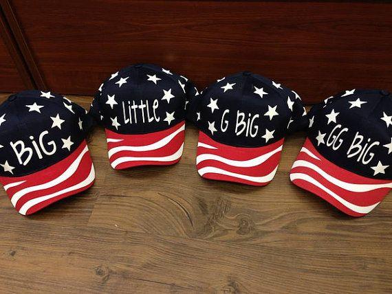 Merica Big/Little Hats by CampusGreekTally on Etsy