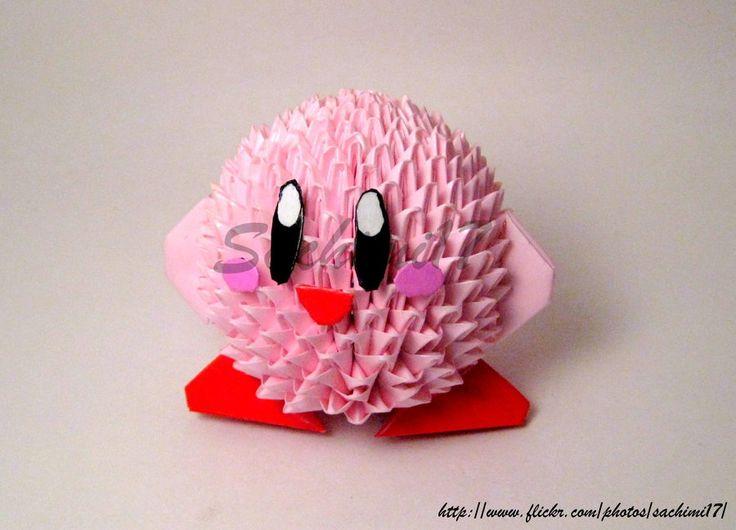 Kirby in Origami by SaKoji.deviantart.com on @DeviantArt                                                                                                                                                     More