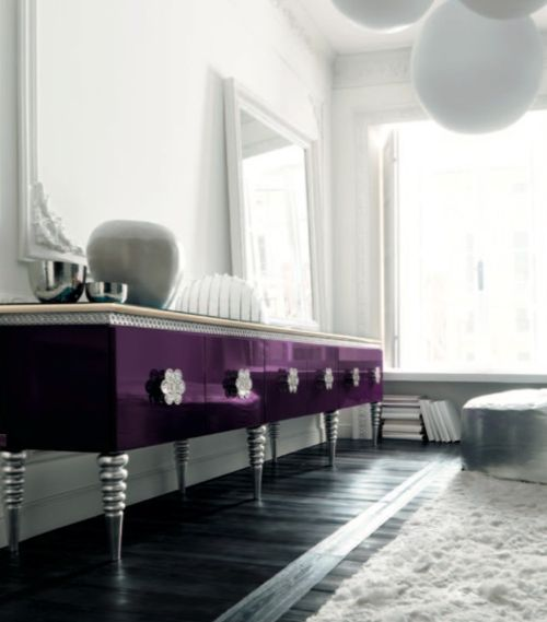 This purple sideboard by Altamoda is  .denofchic: