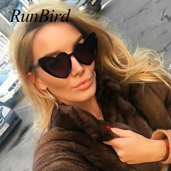 #FASHION #NEW Sweat Heart Sunglasses Women Black Frame Heart Cat Eye Women Sunglasses 2018 Luxury Brand Fashion Eyewear Female Oversize…