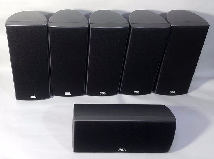 6 JBL Satellite Surround Sound Speaker Set 160SISAT 160SICEN #JBL