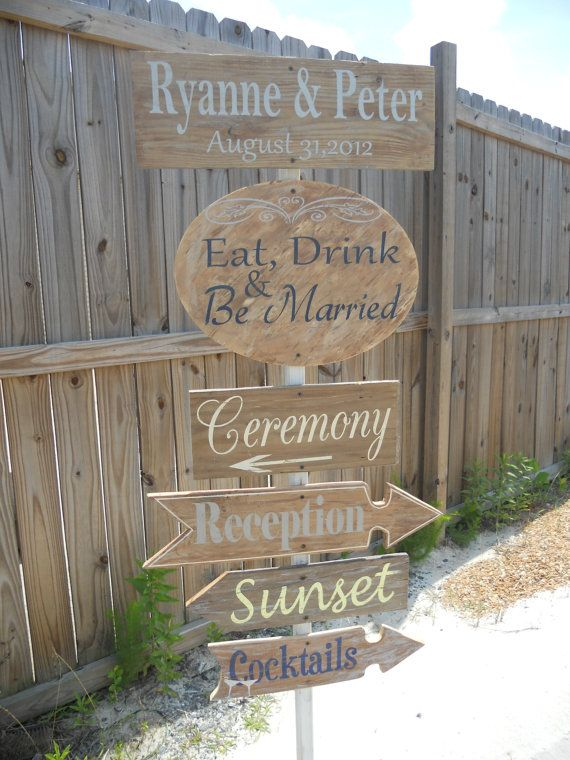 Wedding Signs Rustic Wedding Directional Sign by 2chicsthatbelieve, $150.00