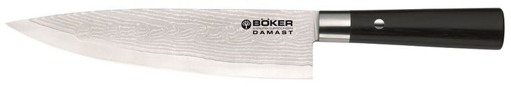BOKER TREE BRAND Damascus Premium Kitchen Cutlery Smooth Black Olive Wood Chef's Knife Knives *** You can get more details by clicking on the image.