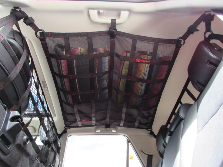 Could do something like this over the back seat - to add to the space we already made with the hard attic but more easily removable for everyday use.