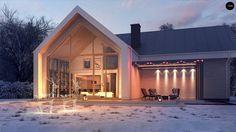 Проект Z357 Современный мансардный дом с гаражом на две машины - Z500 - Проекты…