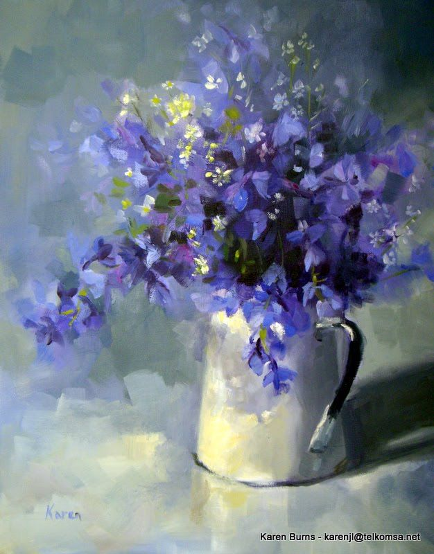 KAREN'S CANVAS: larkspur
