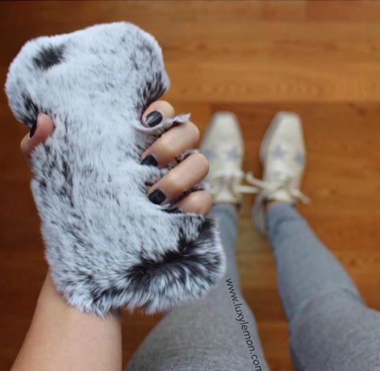 Gray Furry Fever Phone Case