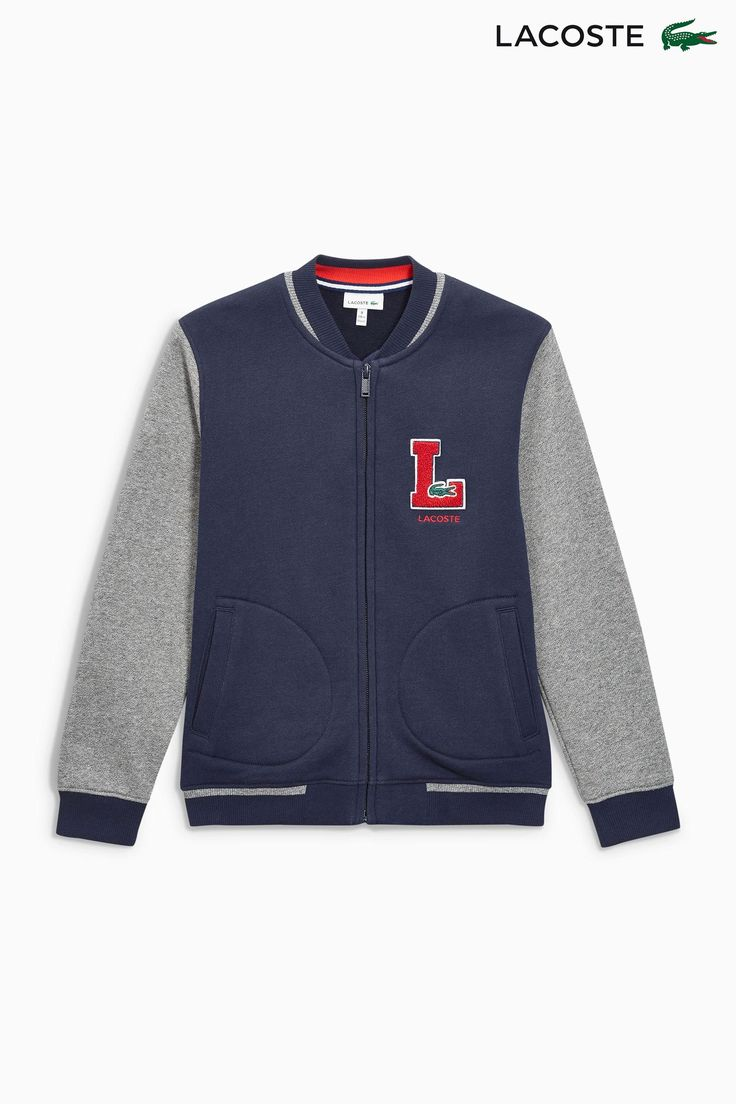 Buy Lacoste® Navy Raglan Varsity Jacket from the Next UK online shop