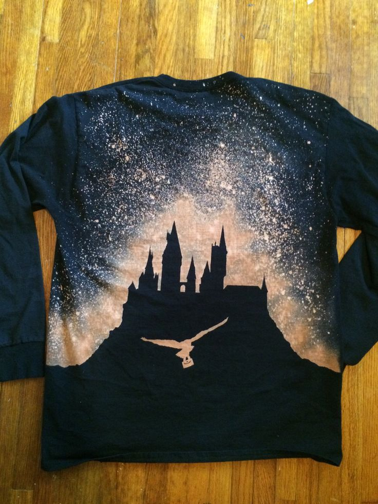 Harry Potter Bleach Shirts using the Cricut to make the stencil