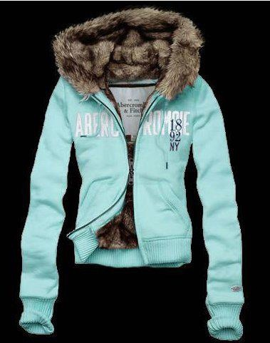 Abercrombie & Fitch Girls New York Fur Hoodies
