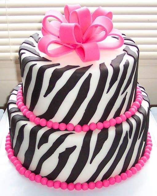 pink zebra cake...OK, I am going to have to have a baby girl someday, so I can have this cake made for her...