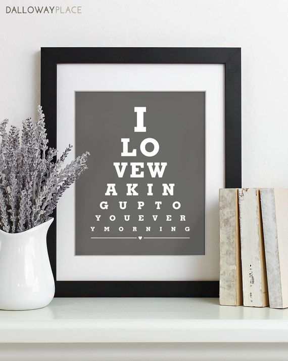 Fathers Day Gift For Dad Art Print Eye Chart