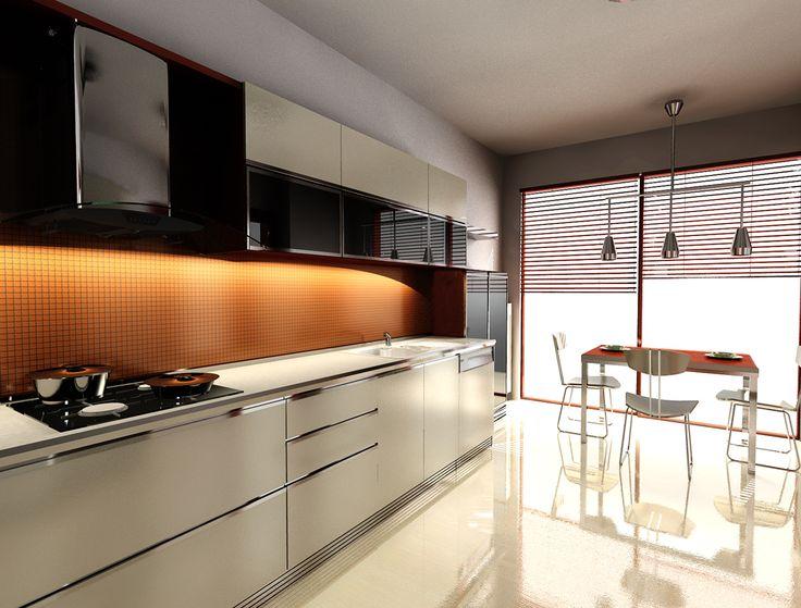 Kitchen Design Orange 107 best home: orange kitchen images on pinterest   orange kitchen