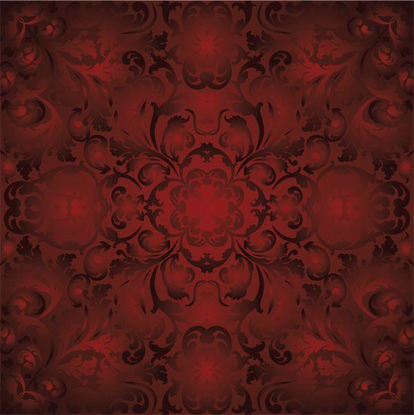 красный узор на ткани