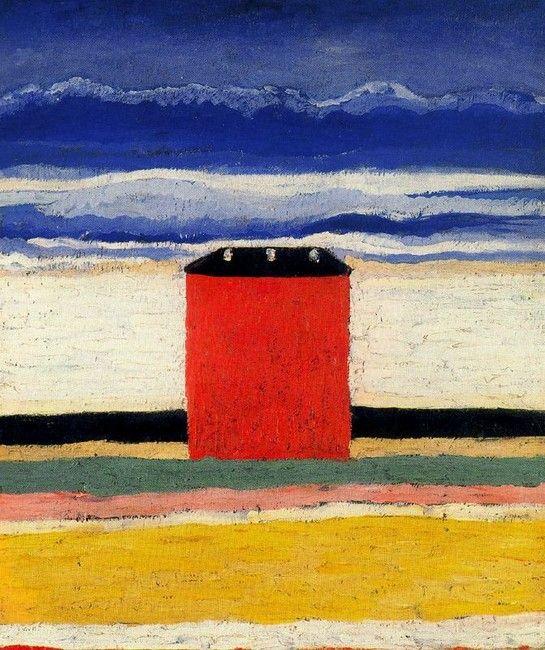 Kasimir Malevich, Red House 1932, Óleo sobre tela, 63x55 cm San Petersburgo,Museo del estado Ruso
