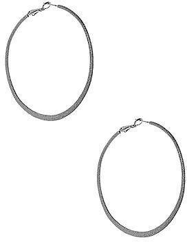 GUESS Women's Hematite-Tone Stardust Hoop Earrings ($5)