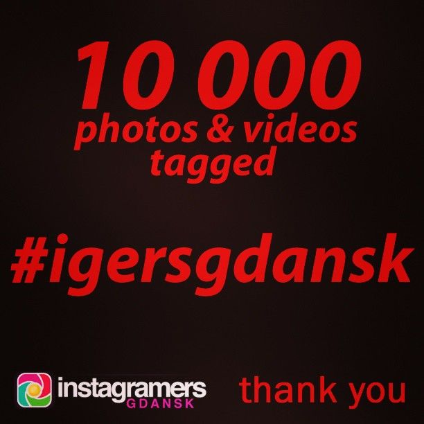 Thank you very much. 10000 photos and videos tagged #igersgdansk. #igers  #instagramers #igerspoland #10000 #10k #gdansk #gdynia #sopot #pomorskie  (w: Instagramers Meeting Point)