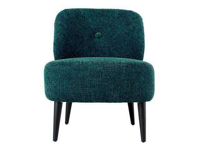 Jasper Accent Chair, Teal Boucle