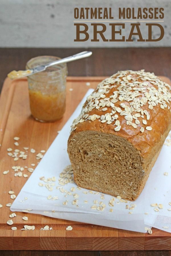 Oatmeal Molasses Bread recipe -- This is a relatively simple homemade bread recipe. Perfect for toast, sandwiches, or a simple dinner side dish.