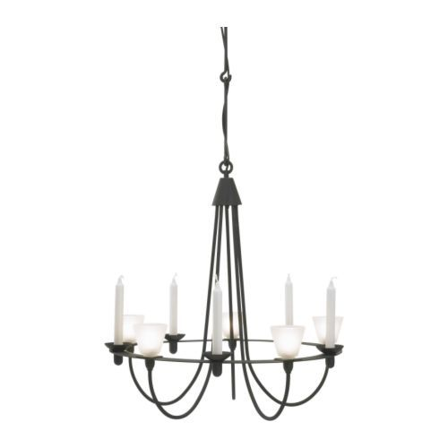 LERDAL Chandelier IKEA. Electrical/Candle combo.: Ikea 49 99, Dining Rooms Lights, Lerdal Chandeliers, Dining Room Lighting, Ikea Chandeliers, Candles, Ceilings Lamps, Chandeliers Ikea, Candle Chandelier