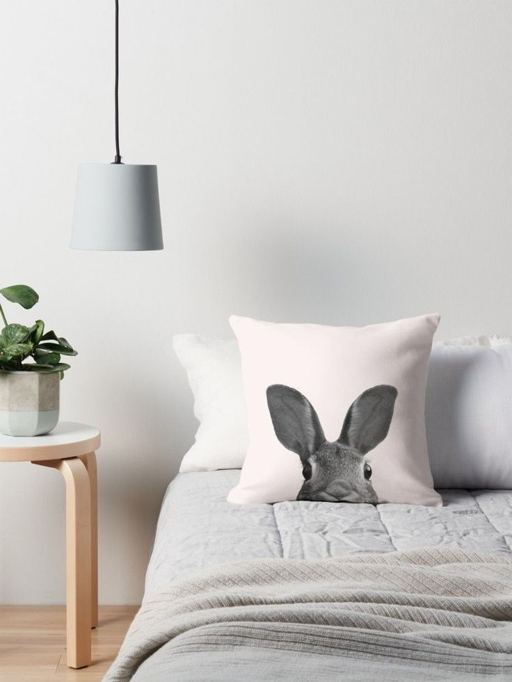 Bunny Throw Pillows Designed by Summer Sun Home Art || Home Decor DIY, Home Decor on a Budget, Apartment Decorating on a budget, Apartment Decorating College, Dorm Room Ideas, Dorm Room Decor, Dorm Decor, Wall Decor, Wall Art, Gallery Wall, Tumblr Room Decor DIY, Boho Chic Decor, White Aesthetic, Modern Vintage, Midcentury Modern, Interior Decorating, Scandinavian Interior, Nordic Interior, Blush Grey Bedroom, Home Office Ideas, Workspace, Desk Ideas, Bathroom, Kitchen, Kids Bedroom