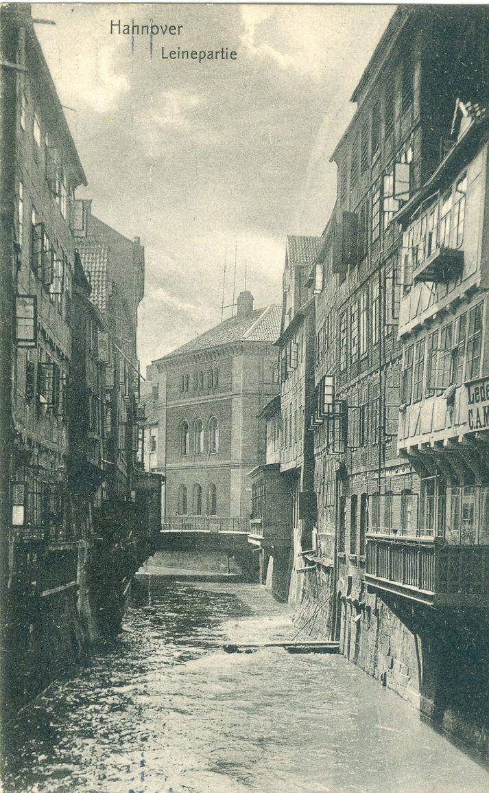 Nicht in Venedig... - sondern Leinepartie in der Altstadt von Hannover um 1907, Samml. Hameister