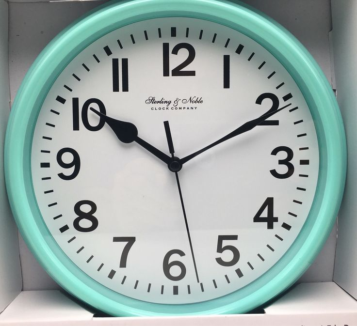 Wall Clock Mint Green 878 inch Glass Lens Sterling Noble