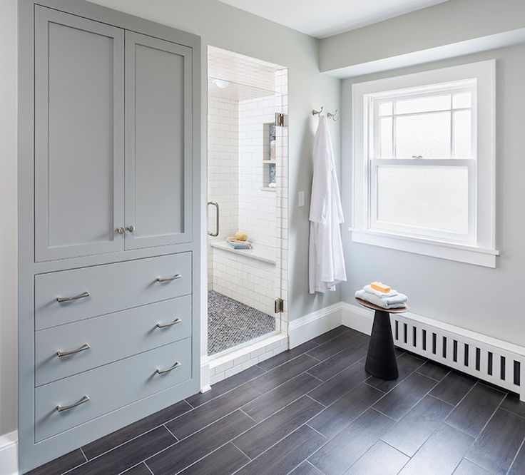 Serendipity Refined Blog Contemporary Apartment Small Bath Makeover: Farmhouse Bath Linens, Linen Storage And Modern Bath
