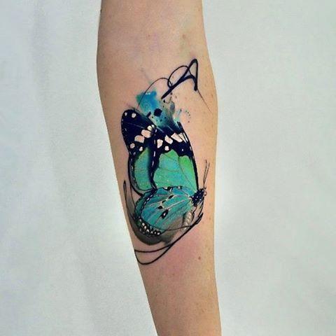 Watercolor butterfly tattoo-Instagram
