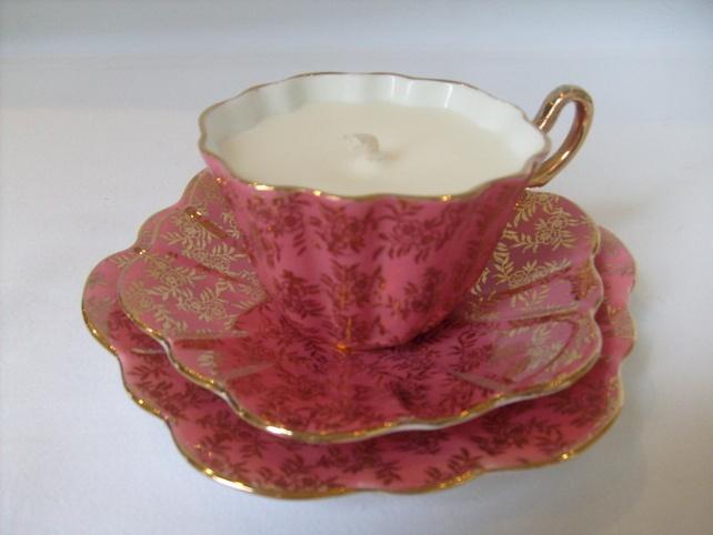 VINTAGE TEA CUP CANDLES £15.00