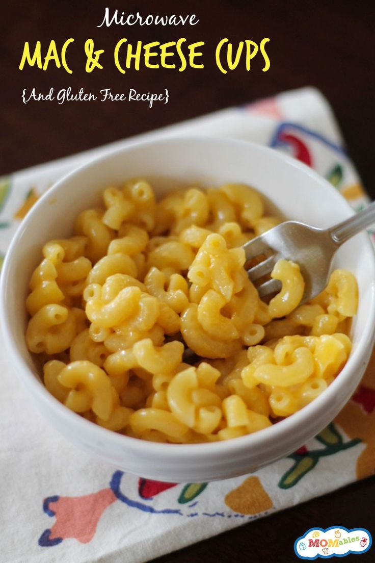 Microwave Mac Cheese Cups Gf Version Included Recipe Mac Cheese Macs And Cheese