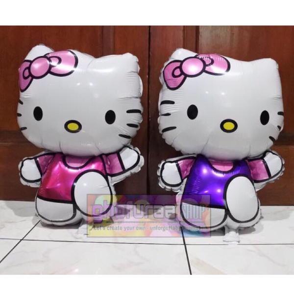 Jual Balon foil karakter Hello Kitty warna pink ungu besar jumbo aksesoris dekorasi pesta kartun anak by ghofuraa shop Baru | Peralatan Dekorasi Rumah Murah |  Bukalapak