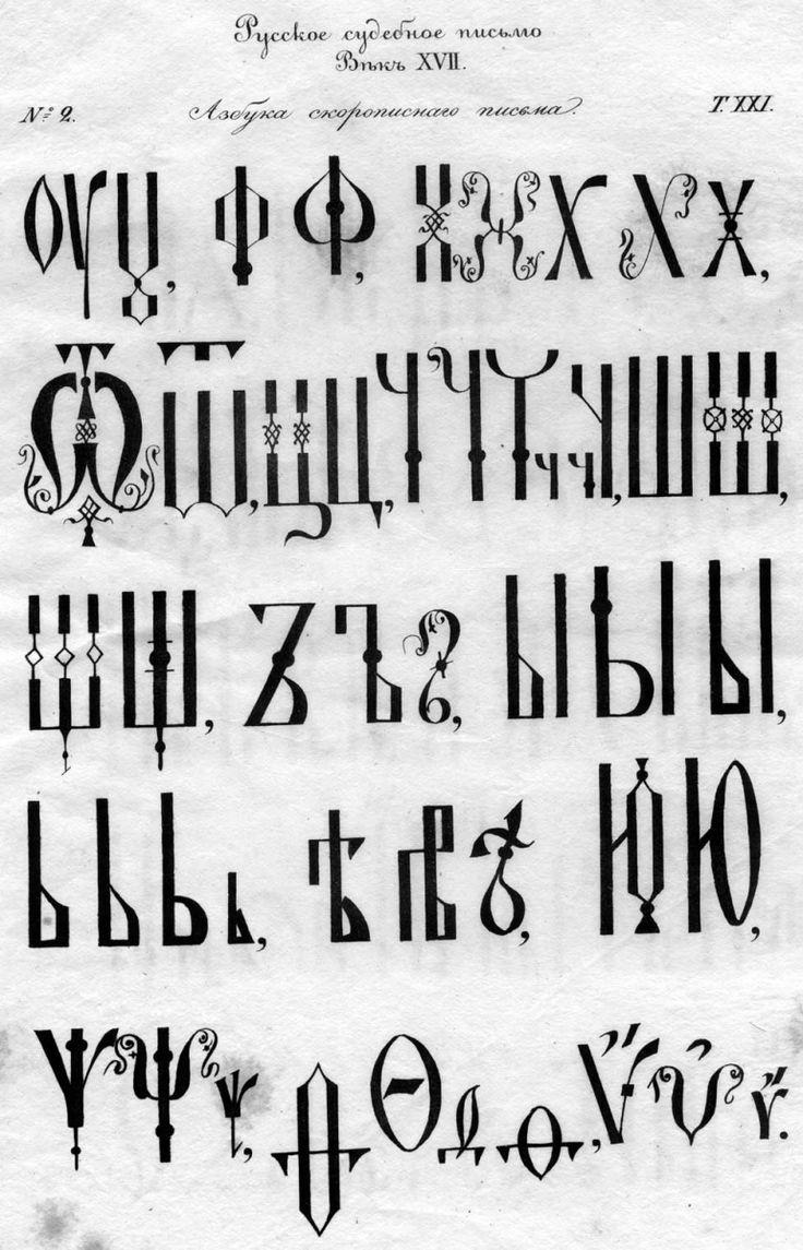Азбука скорописного письма XVII в.