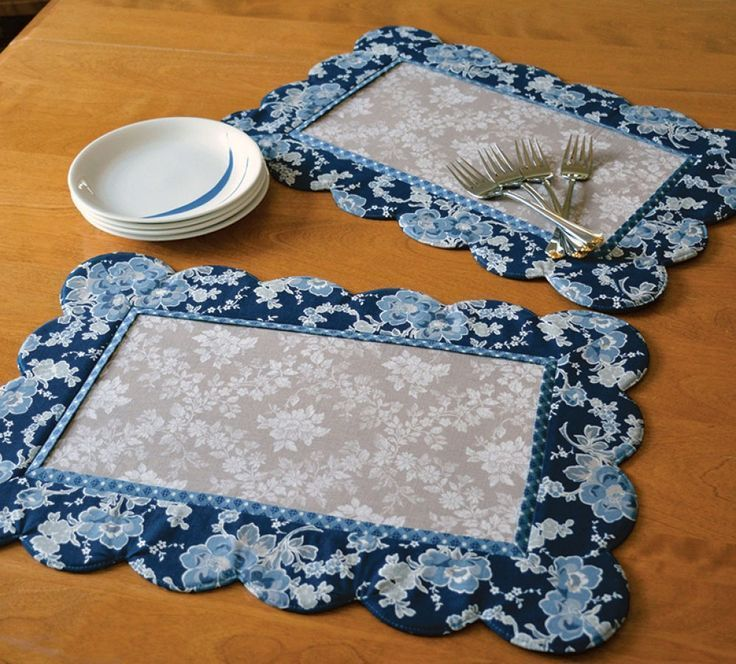 Inventory Reduction Scalloped Placemats Sewing Pattern By Poorhouse Quilt Designs Placemats Patterns Quilting Designs Sewing Patterns