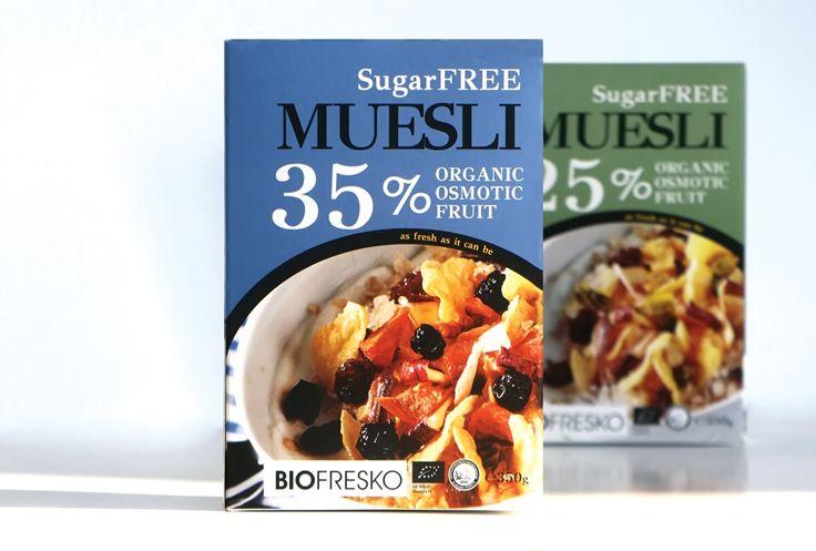 Start your day strong! Muesli packaging design. Organic osmotic fruit. oghpack.gr #oghpack #greece