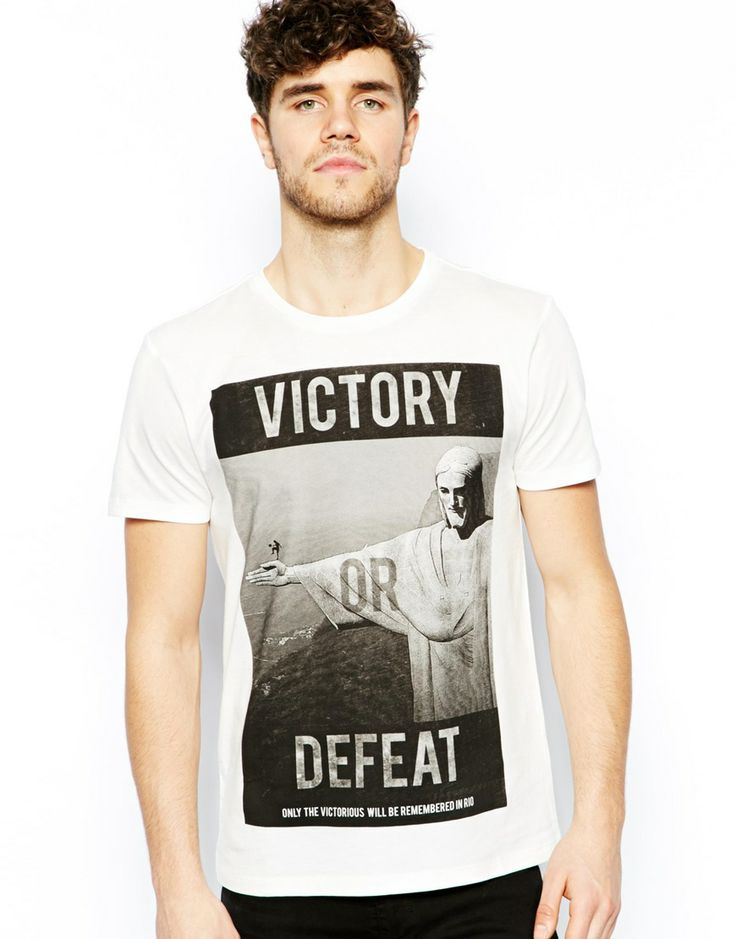 New Look Men - T-Shirt with Victory Brasil Print £9.99