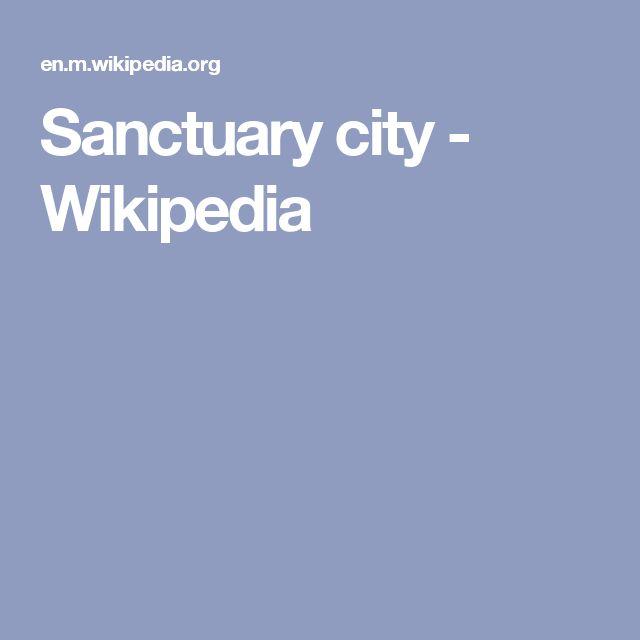 Sanctuary city - Wikipedia