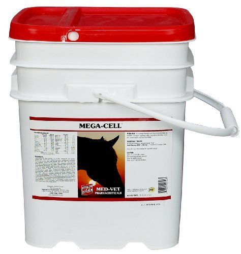 Mega-Cell - 25 lb (200-400 days) by Med-Vet Pharmaceuticals. $88.75. All-around vitamin and mineral supplement maximizes condition, growth, performance and stamina. Includes amino acids, minerals, vitamins, electrolytes, biotin, live stabilized direct fed microbials, live cell yeast culture and selenium. Provides the flexibility of a carefully balanced, highly fortified feed supplement for rations consisting of grass, hay and grain. Feed 1-2 oz daily. Pellets.