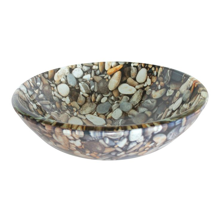 EB_GS24 Eden Bath Natural Pebble Pattern Glass Vessel Sink | Loweu0027s Canada