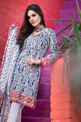 b06b19e034 Gul Ahmed 3 Piece Summer Essential 2018 Custom Stitched Lawn Suit - CL-333 A
