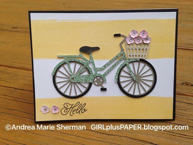 GIRLplusPAPER: Flower Market Bicycle Card