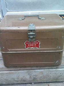 Hemp & Co. Little Brown Chest Antique Cooler Ice Box VNTG