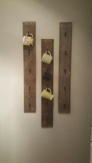Diy coffee mug rack w/ pallet wood by dawn
