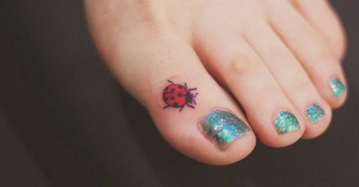Tattoo Artist: Seoeon. Tags: Animals, Insects, Ladybugs. Body parts: Toe.