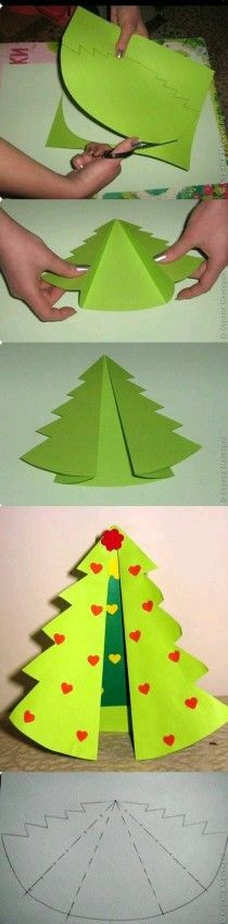designed to be an ornament - use paper instead of felt = cute card