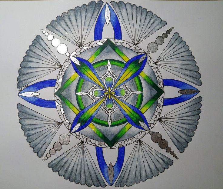 mandala, watercolour pencils, kredki akwarelowe  https://www.facebook.com/creative.baha/