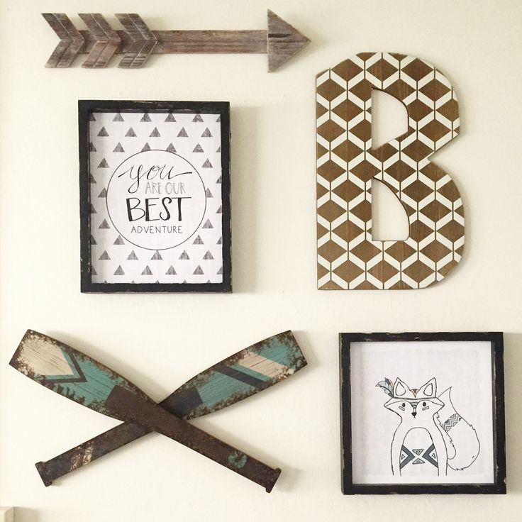 got all the decor and frames from hobby lobby for my sons nursery love the way it turned out